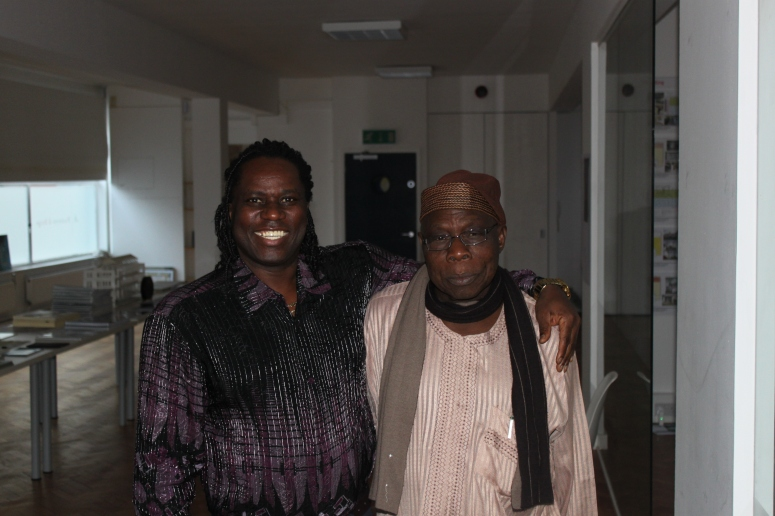 With Pres. Obj in London